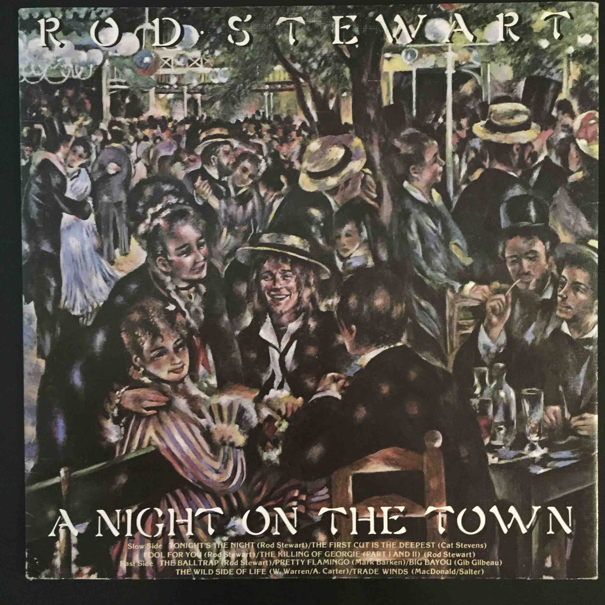 Rod Stewart A Night On The Town 1976 Us Pressing