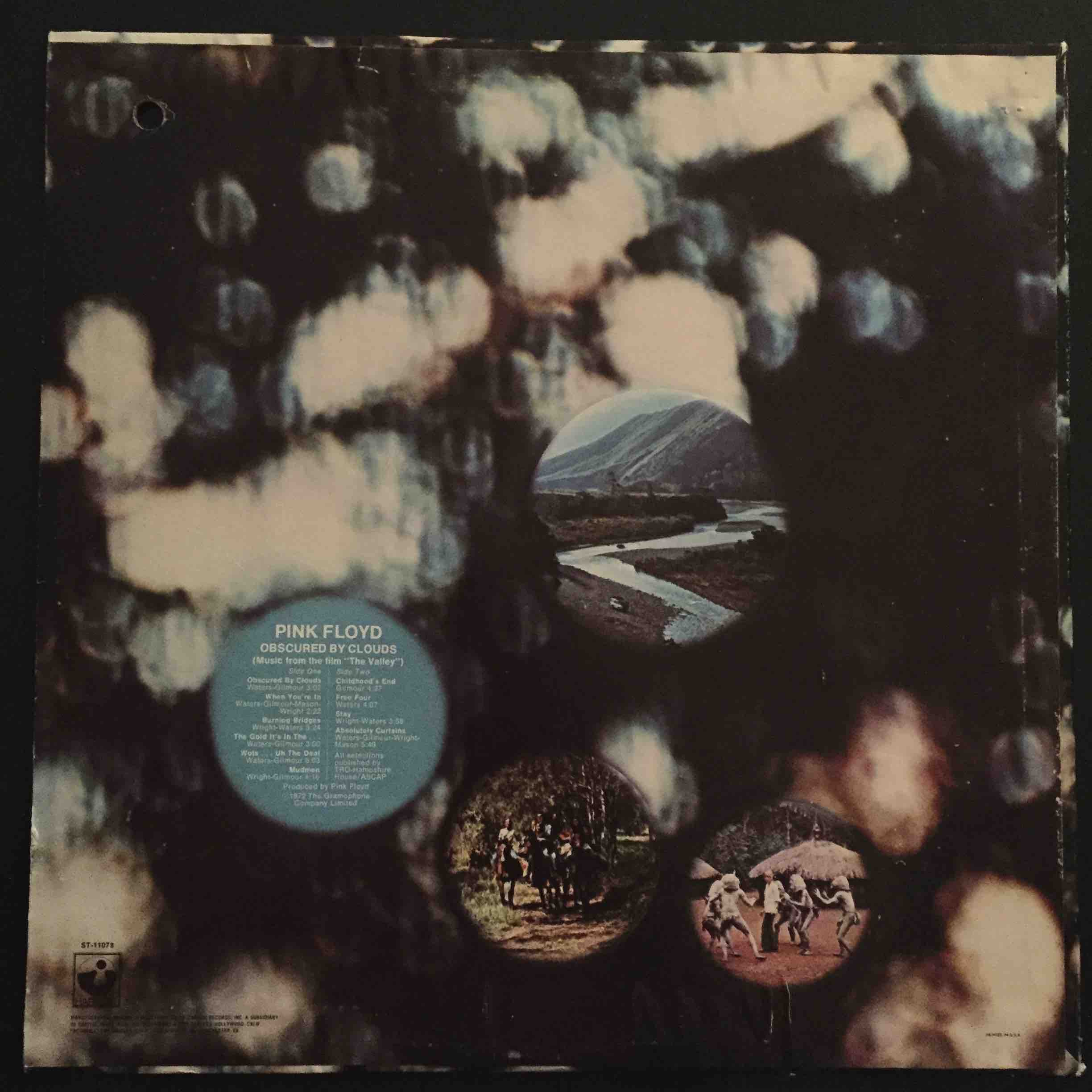 Pink Floyd Obscured By Clouds 1972 Rare Us Import