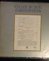 Carpenters, Close to you, First Edition