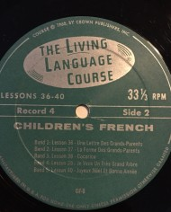 Children's Living French, Lessons on Vinyl and Books 3