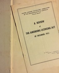 Meagher, Licencing Law & Practice, 1952, Australia,  2